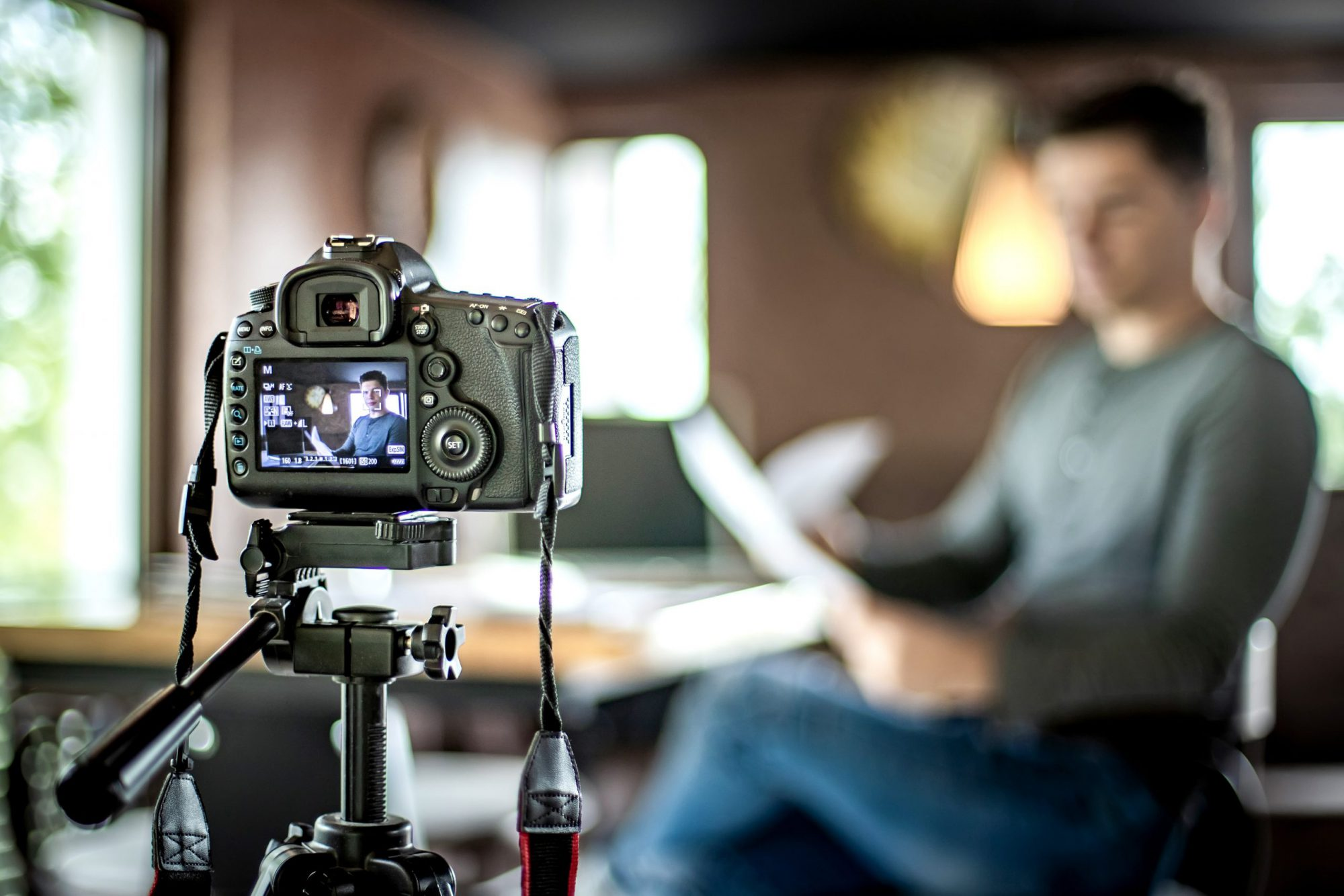 Person Recording Product Video