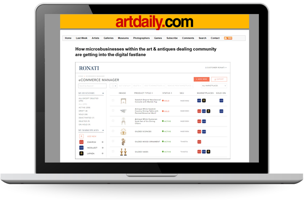 How Microbusinesses Within the Art & Antiques Dealing Community Are Getting into the Digital Fastlane with Ronati