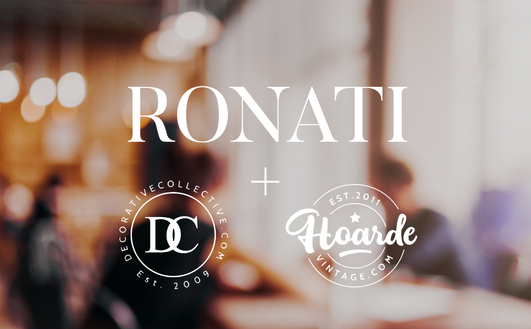 Ronati Partners with The Decorative Collective and Hoarde Vintage